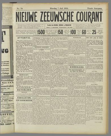 Nieuwe Zeeuwsche Courant 1914-07-07