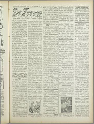 De Zeeuw. Christelijk-historisch nieuwsblad voor Zeeland 1944-01-12
