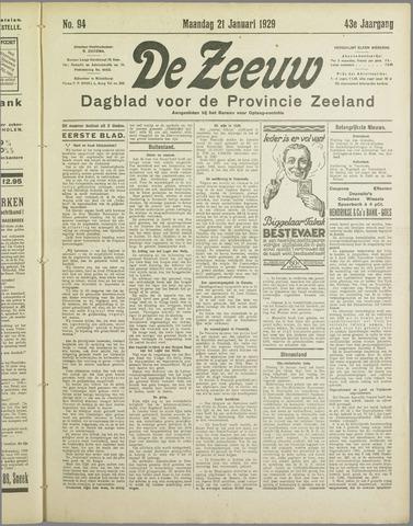 De Zeeuw. Christelijk-historisch nieuwsblad voor Zeeland 1929-01-21