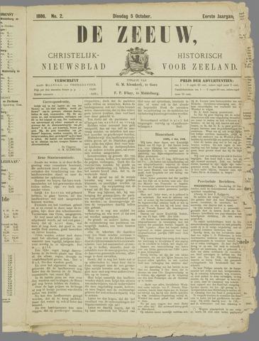 De Zeeuw. Christelijk-historisch nieuwsblad voor Zeeland 1886-10-05