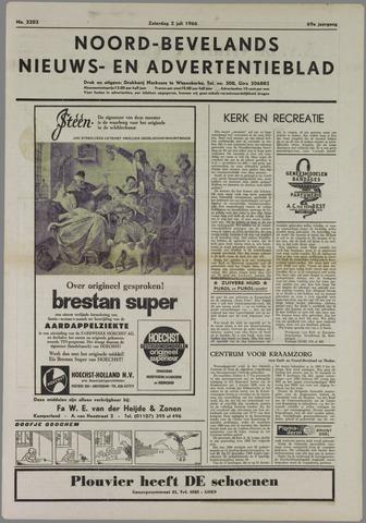 Noord-Bevelands Nieuws- en advertentieblad 1966-07-02