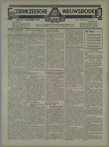 Zierikzeesche Nieuwsbode 1940-11-01