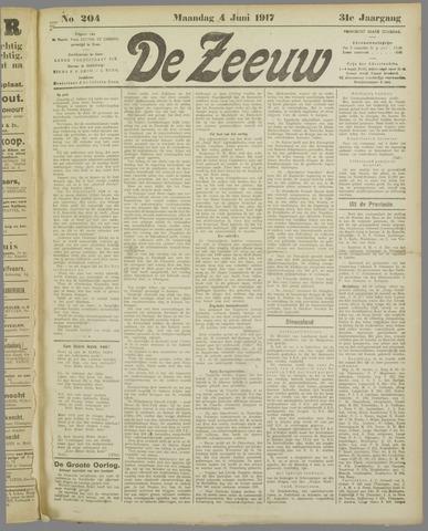 De Zeeuw. Christelijk-historisch nieuwsblad voor Zeeland 1917-06-04
