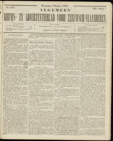 Ter Neuzensche Courant. Algemeen Nieuws- en Advertentieblad voor Zeeuwsch-Vlaanderen / Neuzensche Courant ... (idem) / (Algemeen) nieuws en advertentieblad voor Zeeuwsch-Vlaanderen 1873-10-08