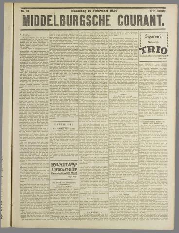 Middelburgsche Courant 1927-02-14