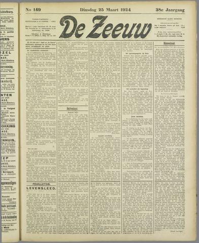 De Zeeuw. Christelijk-historisch nieuwsblad voor Zeeland 1924-03-25