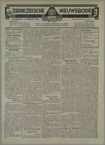 Zierikzeesche Nieuwsbode 1936-02-13