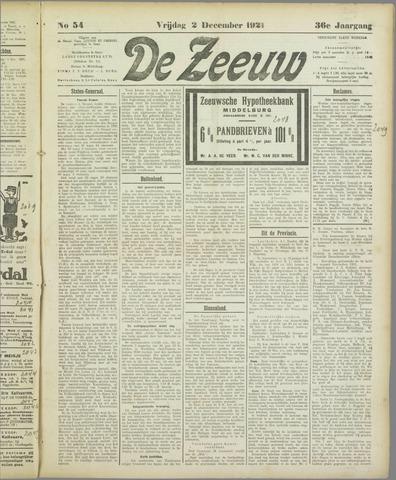 De Zeeuw. Christelijk-historisch nieuwsblad voor Zeeland 1921-12-02
