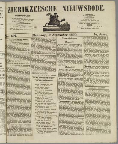 Zierikzeesche Nieuwsbode 1850-09-09
