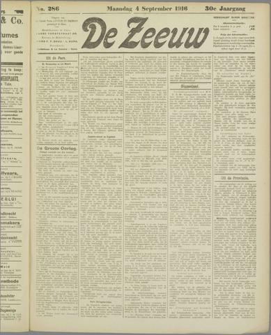 De Zeeuw. Christelijk-historisch nieuwsblad voor Zeeland 1916-09-04