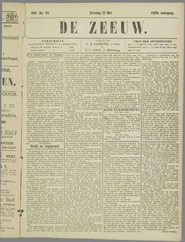 De Zeeuw. Christelijk-historisch nieuwsblad voor Zeeland 1891-05-12