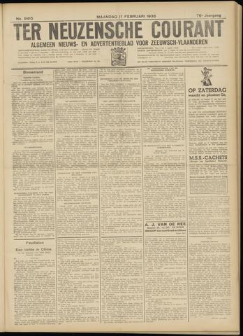 Ter Neuzensche Courant. Algemeen Nieuws- en Advertentieblad voor Zeeuwsch-Vlaanderen / Neuzensche Courant ... (idem) / (Algemeen) nieuws en advertentieblad voor Zeeuwsch-Vlaanderen 1936-02-17
