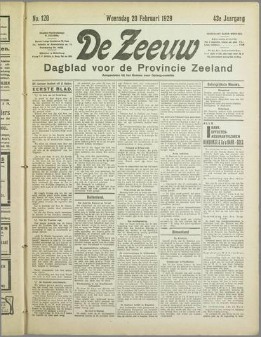 De Zeeuw. Christelijk-historisch nieuwsblad voor Zeeland 1929-02-20