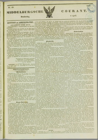 Middelburgsche Courant 1846-04-09