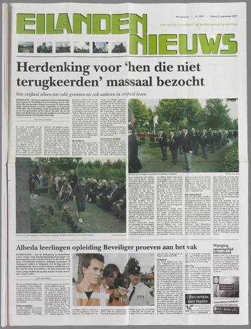 Eilanden-nieuws. Christelijk streekblad op gereformeerde grondslag 2007-09-21