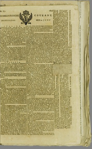 Middelburgsche Courant 1806-06-12