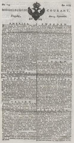 Middelburgsche Courant 1777-09-23