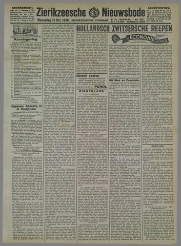 Zierikzeesche Nieuwsbode 1930-10-15