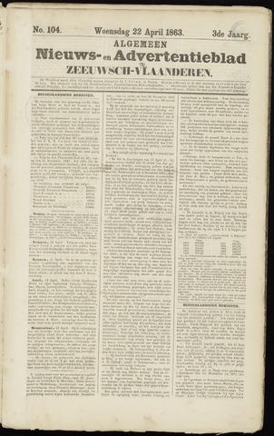 Ter Neuzensche Courant. Algemeen Nieuws- en Advertentieblad voor Zeeuwsch-Vlaanderen / Neuzensche Courant ... (idem) / (Algemeen) nieuws en advertentieblad voor Zeeuwsch-Vlaanderen 1863-04-22