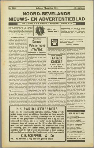 Noord-Bevelands Nieuws- en advertentieblad 1933-12-02