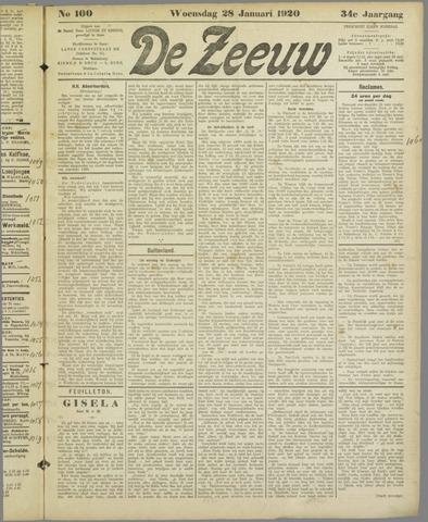 De Zeeuw. Christelijk-historisch nieuwsblad voor Zeeland 1920-01-28