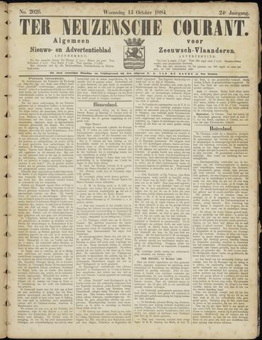 Ter Neuzensche Courant. Algemeen Nieuws- en Advertentieblad voor Zeeuwsch-Vlaanderen / Neuzensche Courant ... (idem) / (Algemeen) nieuws en advertentieblad voor Zeeuwsch-Vlaanderen 1884-10-15