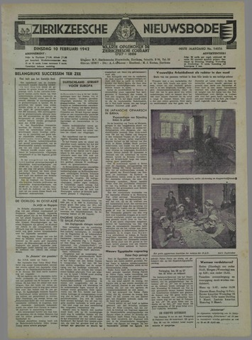 Zierikzeesche Nieuwsbode 1942-02-10