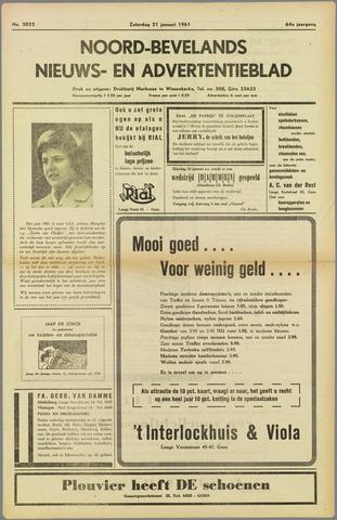 Noord-Bevelands Nieuws- en advertentieblad 1961-01-21