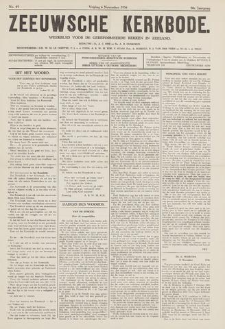 Zeeuwsche kerkbode, weekblad gewijd aan de belangen der gereformeerde kerken/ Zeeuwsch kerkblad 1936-11-06