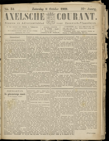 Axelsche Courant 1921-10-08