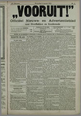 """""""Vooruit!""""Officieel Nieuws- en Advertentieblad voor Overflakkee en Goedereede 1915-01-06"""