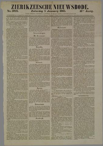 Zierikzeesche Nieuwsbode 1885-01-03