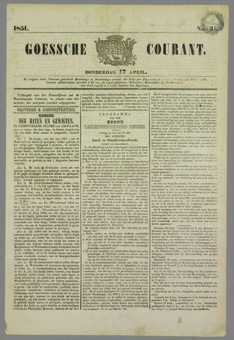 Goessche Courant 1851-04-17