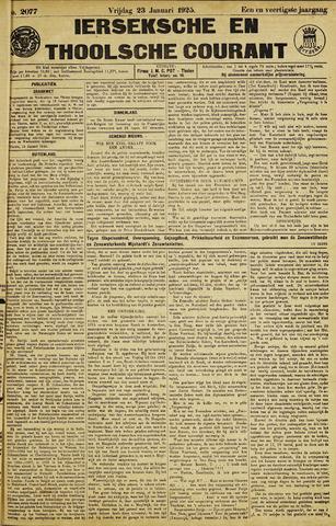Ierseksche en Thoolsche Courant 1925-01-23