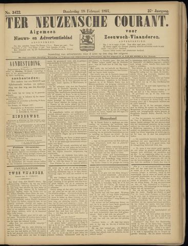 Ter Neuzensche Courant. Algemeen Nieuws- en Advertentieblad voor Zeeuwsch-Vlaanderen / Neuzensche Courant ... (idem) / (Algemeen) nieuws en advertentieblad voor Zeeuwsch-Vlaanderen 1897-02-18