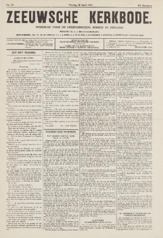 Zeeuwsche kerkbode, weekblad gewijd aan de belangen der gereformeerde kerken/ Zeeuwsch kerkblad 1936-04-10