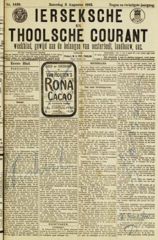 Ierseksche en Thoolsche Courant 1912-08-03