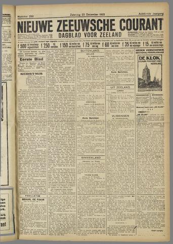 Nieuwe Zeeuwsche Courant 1922-12-23