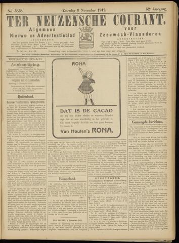 Ter Neuzensche Courant. Algemeen Nieuws- en Advertentieblad voor Zeeuwsch-Vlaanderen / Neuzensche Courant ... (idem) / (Algemeen) nieuws en advertentieblad voor Zeeuwsch-Vlaanderen 1912-11-09