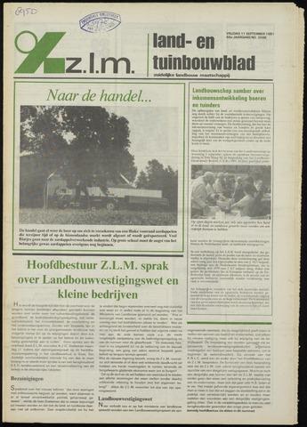 Zeeuwsch landbouwblad ... ZLM land- en tuinbouwblad 1981-09-11