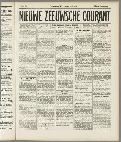 Nieuwe Zeeuwsche Courant 1909-08-12