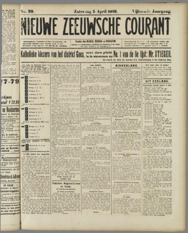 Nieuwe Zeeuwsche Courant 1919-04-05