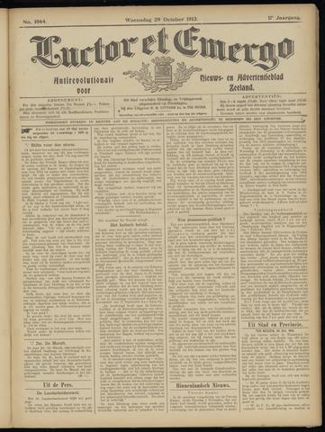 Luctor et Emergo. Antirevolutionair nieuws- en advertentieblad voor Zeeland / Zeeuwsch-Vlaanderen. Orgaan ter verspreiding van de christelijke beginselen in Zeeuwsch-Vlaanderen 1913-10-29