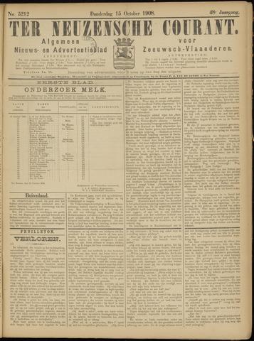 Ter Neuzensche Courant. Algemeen Nieuws- en Advertentieblad voor Zeeuwsch-Vlaanderen / Neuzensche Courant ... (idem) / (Algemeen) nieuws en advertentieblad voor Zeeuwsch-Vlaanderen 1908-10-15