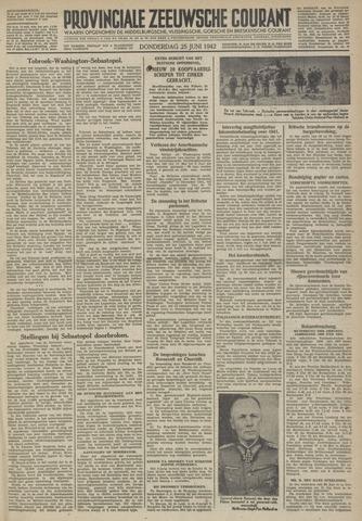 Provinciale Zeeuwse Courant 1942-06-25
