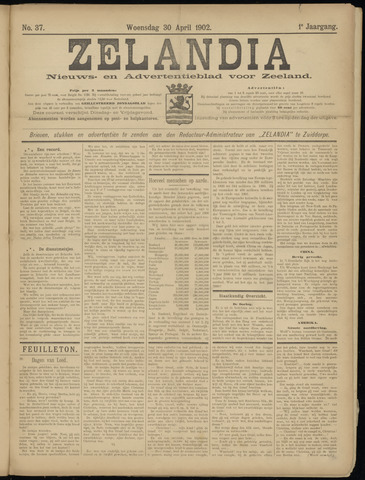 Zelandia. Nieuws-en advertentieblad voor Zeeland | edities: Het Land van Hulst en De Vier Ambachten 1902-04-30