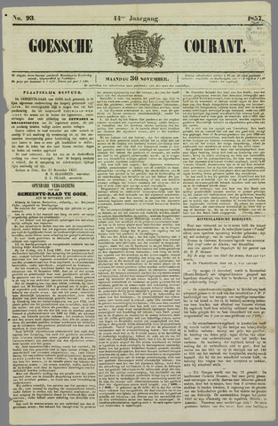 Goessche Courant 1857-11-30