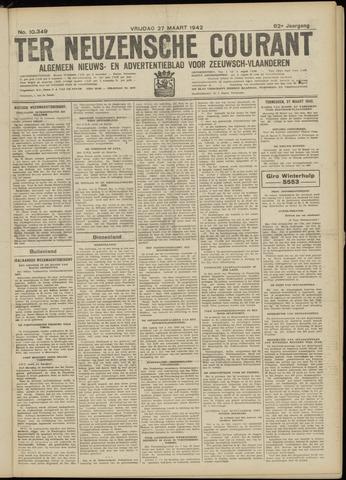 Ter Neuzensche Courant. Algemeen Nieuws- en Advertentieblad voor Zeeuwsch-Vlaanderen / Neuzensche Courant ... (idem) / (Algemeen) nieuws en advertentieblad voor Zeeuwsch-Vlaanderen 1942-03-27