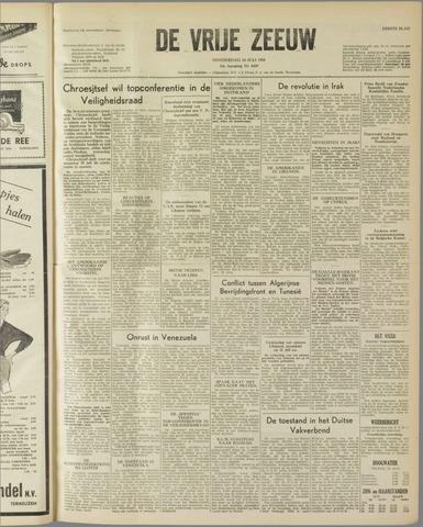 de Vrije Zeeuw 1958-07-24