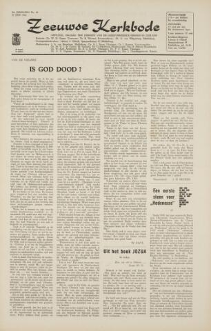 Zeeuwsche kerkbode, weekblad gewijd aan de belangen der gereformeerde kerken/ Zeeuwsch kerkblad 1966-06-24